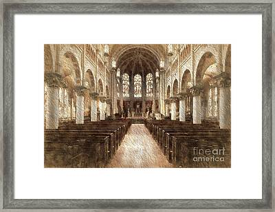 Cathtopazancient Framed Print by Cecil Fuselier