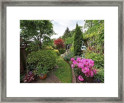 Cathy's Garden - A Little Slice Of England Framed Print by Gill Billington