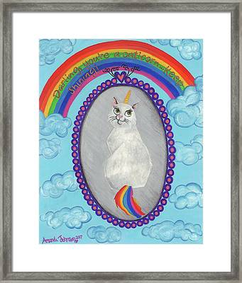 Caticorn Framed Print