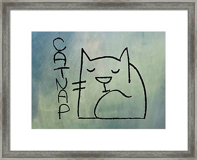Catnap Framed Print by Bill Cannon