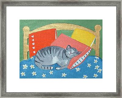 Catnap Framed Print by Christine Quimby