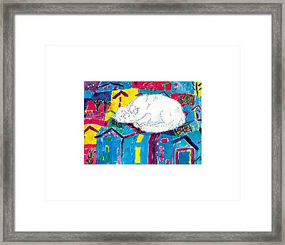 Catnap Whimsy Framed Print by Ginny Young