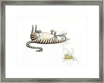 Catnipped  Framed Print