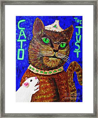 Cato The Just And A Supplicant Framed Print by Sarah Loft