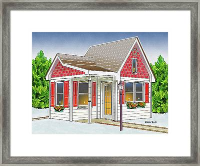 Catonsville Santa House Framed Print by Stephen Younts