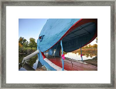 Catoosa Blue Whale Up Close - Route 66 Framed Print