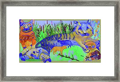 Cats And A Fiddle Framed Print