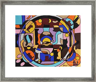Cats In Focus Framed Print by Reb Frost