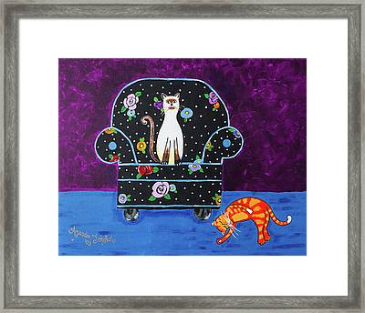 Cats Just Wanna Have Fun Framed Print