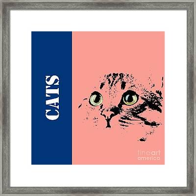 Cats Logo Framed Print