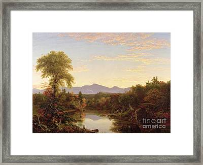 Catskill Creek - New York Framed Print by Thomas Cole