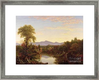 Catskill Creek - New York Framed Print by Thomas Cole
