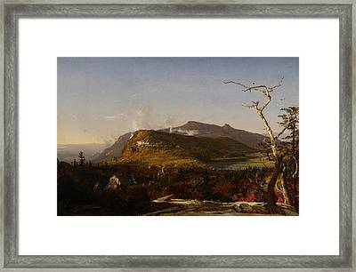 Catskill Mountain House Framed Print by Jasper Francis Cropsey