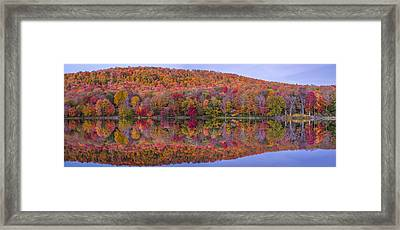 Framed Print featuring the photograph Catskill Panorama 2 by Mark Papke
