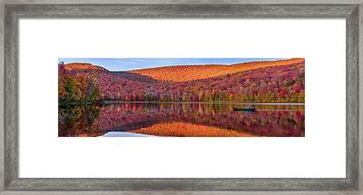 Catskills Panorama 1 Framed Print by Mark Papke