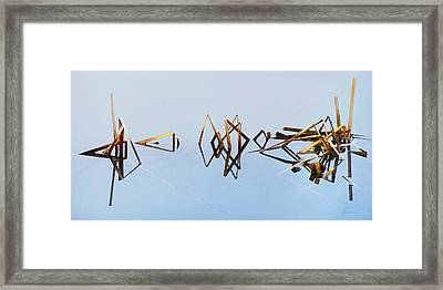 Cattail Reflections Framed Print by Francesa Miller