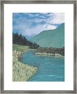 Cattails Framed Print by Candace Shockley