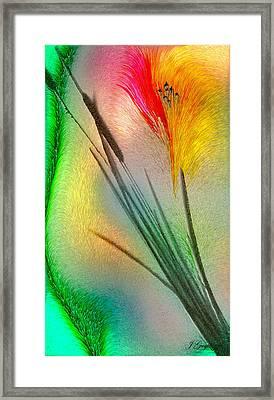 Cattails Framed Print by Jean Gugliuzza