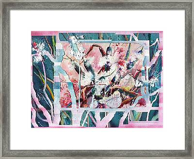Cattails Six Framed Print