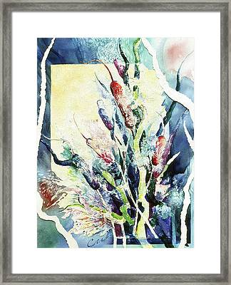 Cattails Two Framed Print