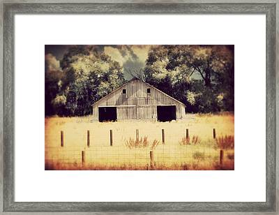 Hwy 3 Barn Framed Print by Julie Hamilton