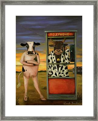 Cattle Call Framed Print by Leah Saulnier The Painting Maniac