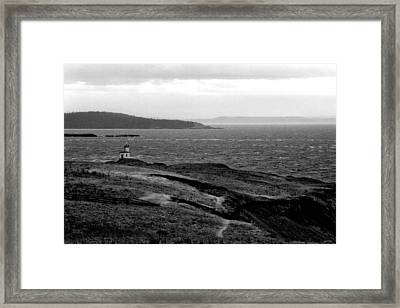 Cattle Point Lighthouse Framed Print
