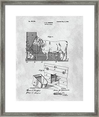 Cattle Stall Patent Framed Print by Dan Sproul