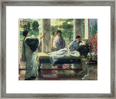 Catullus Reading His Poems Framed Print