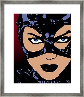Catwoman-night Prowl-2 Framed Print by Otis Porritt