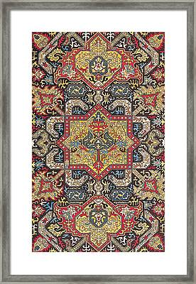 Caucasian Silk Embroidery Framed Print by Unknown