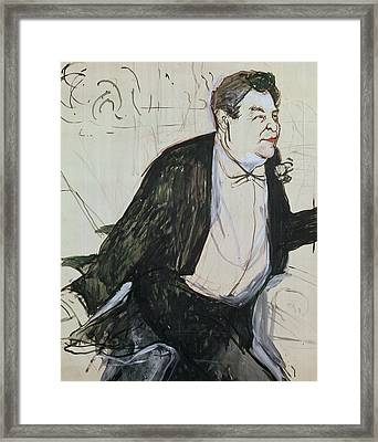 Caudieux Framed Print by Henri de Toulouse-Lautrec