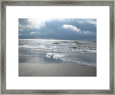 Caught A Wave Framed Print by B Rossitto