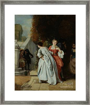 Caught Flirting Framed Print by MotionAge Designs