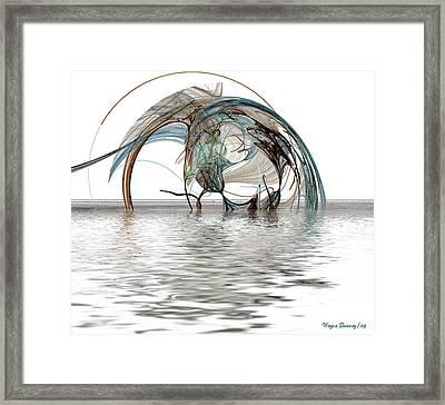 Caught In A Net Framed Print by Wayne Bonney