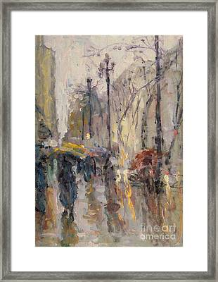 Caught In A Storm Of Wonder Framed Print