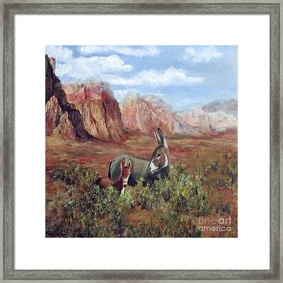 Caught In The Brush Framed Print