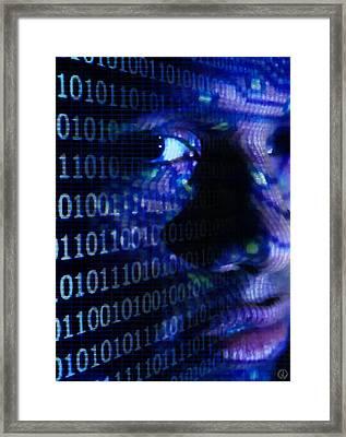 Framed Print featuring the digital art Caught In The Net by Gun Legler