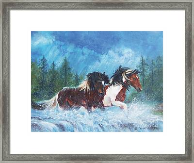 Caught In The Rain  Framed Print by Karen Kennedy Chatham