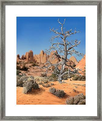 Caught In Your Dying Arms Framed Print