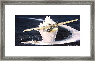 Caught On The Surface Framed Print by Marc Stewart