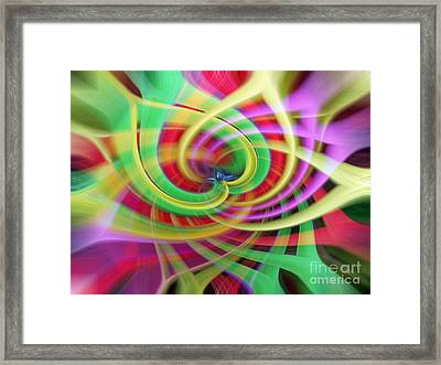 Caught Up In A Colorful Swirl Framed Print