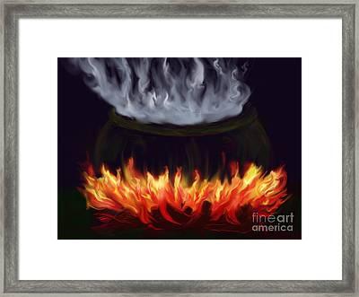 Cauldron Framed Print