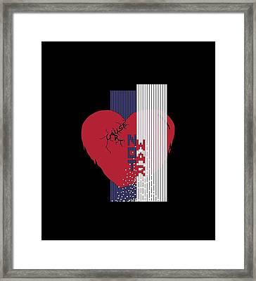 Cause Art Not War Transparent Framed Print by Wendy Rickwalt
