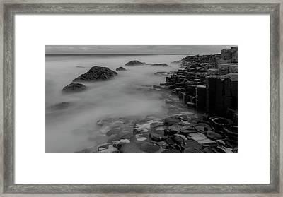 Causeway Stones Framed Print by Roy McPeak