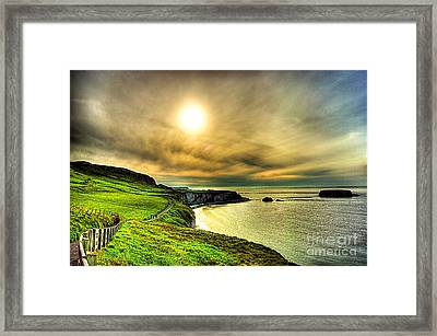 Causeway Sunset Walk Framed Print by Kim Shatwell-Irishphotographer