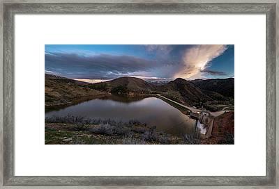 Causey Spring Sunset Framed Print by Justin Johnson
