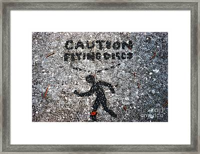 Caution Framed Print by Marty Gayler