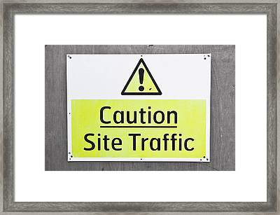 Caution Sign Framed Print by Tom Gowanlock