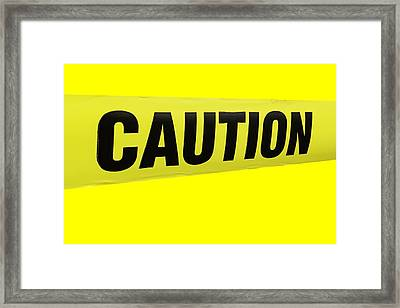 Caution Tape Framed Print